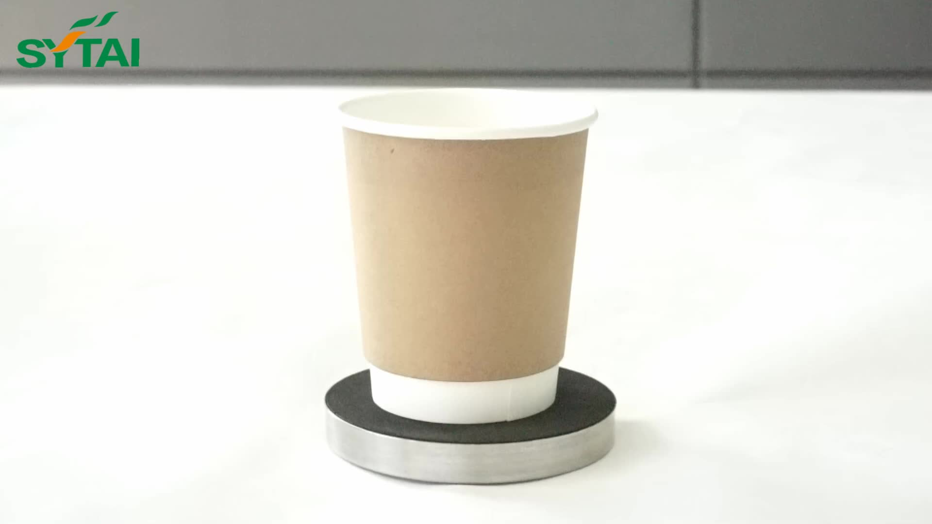 Beautiful Disposable Logo Printed Paper Cup with Cover