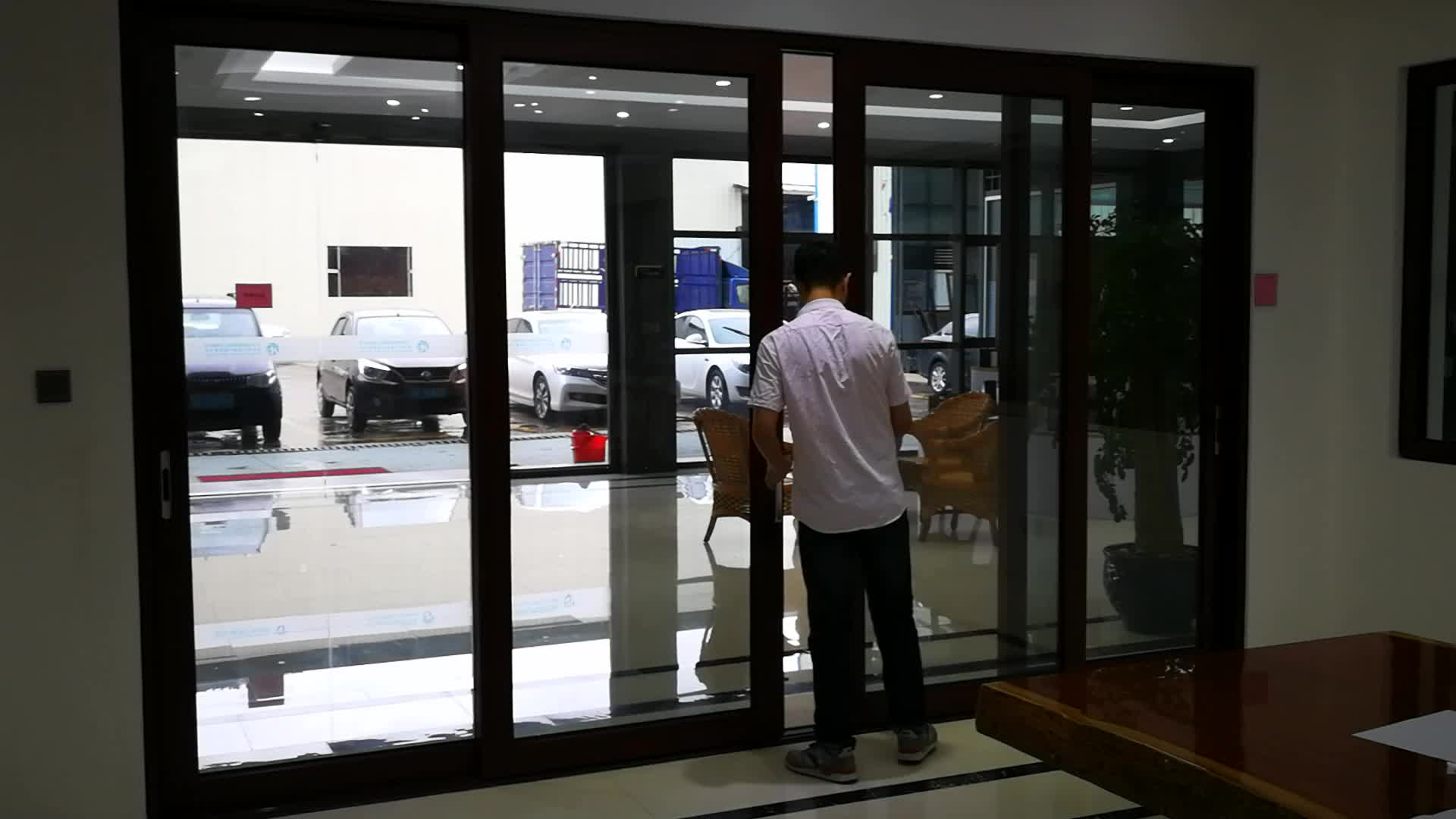 Aluminum Glass Sliding Door For Commercial Building And
