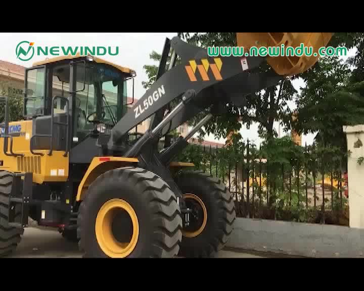 Front end loader XCMG 5 ton wheel loader ZL50GN with rock bucket