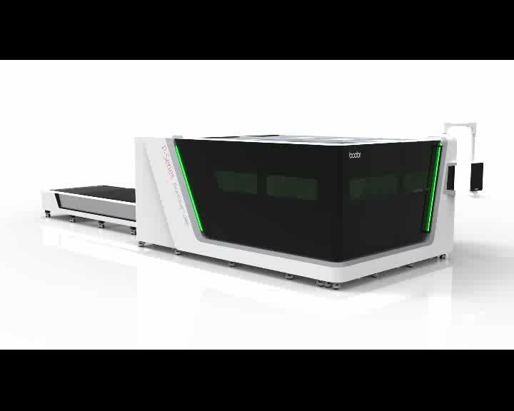 chinese supplier BODOR P3015 fiber carbon steel laser cutter machines for cutting stainless steel