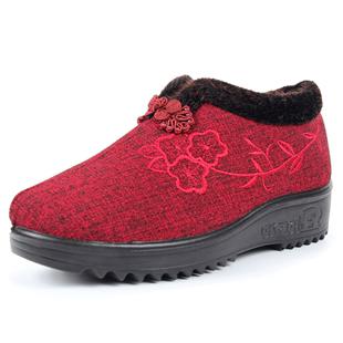 老年人防滑保暖奶奶老北京老人鞋