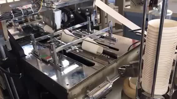Tek kullanımlık kağıt bardak yapmak için popüler yüksek hızlı otomatik Yüksek üretim makinesi