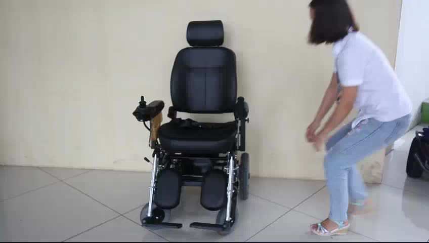 handicapped foldable power electric wheelchair