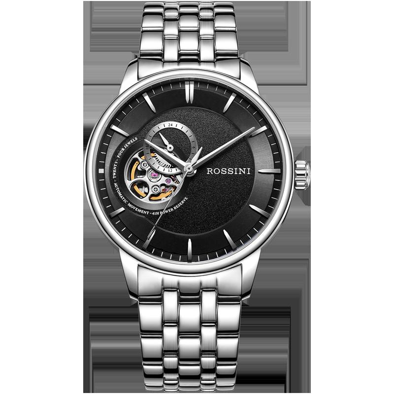 罗西尼映像系列手表男正品自动镂空男士手表防水机械表718773