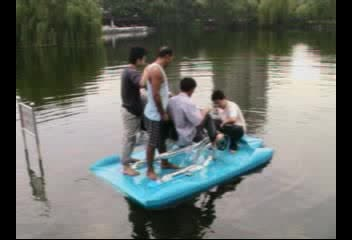 Xueming Water bike for 3 person / water fun equipment