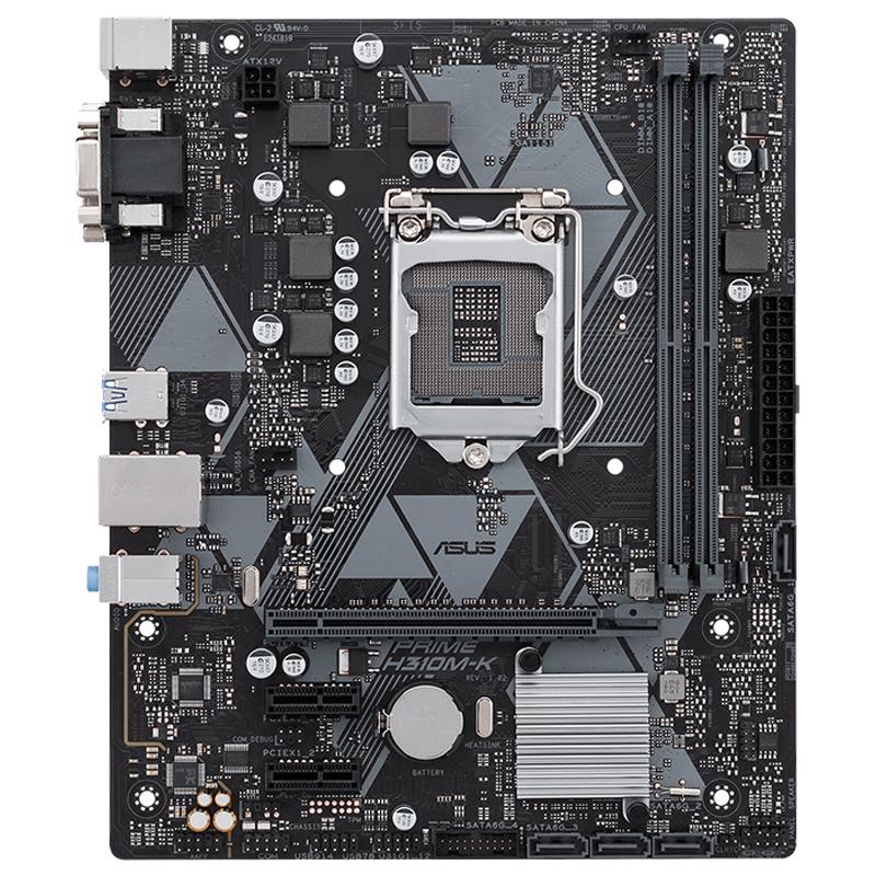 Asus/华硕 PRIME H310M-K R2.0旗舰店电脑台式机H310M游戏办公主板用1151针CPU 兼容8100
