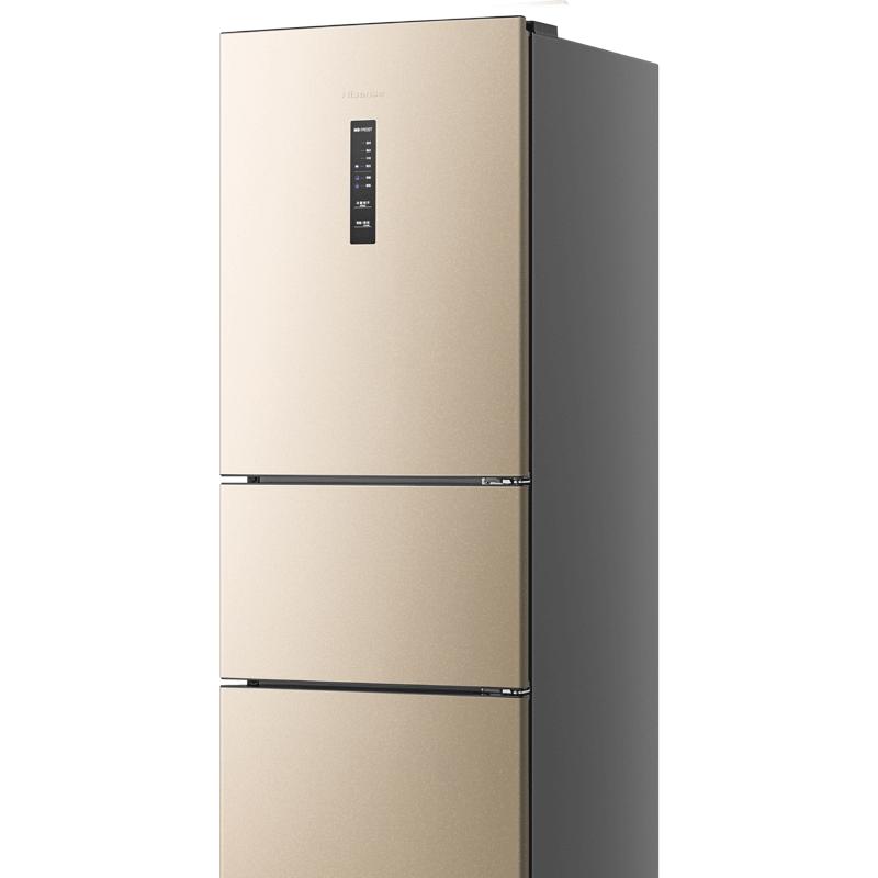 海信 BCD-220WYK1DQ三门式电冰箱风冷无霜家用节能静音小型冷藏冻