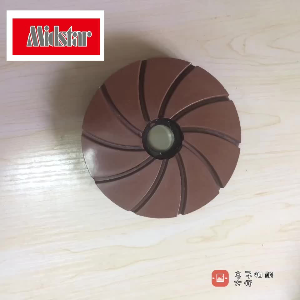 Midstar snail lock resin edge polishing wheel for granite, marble, quartz