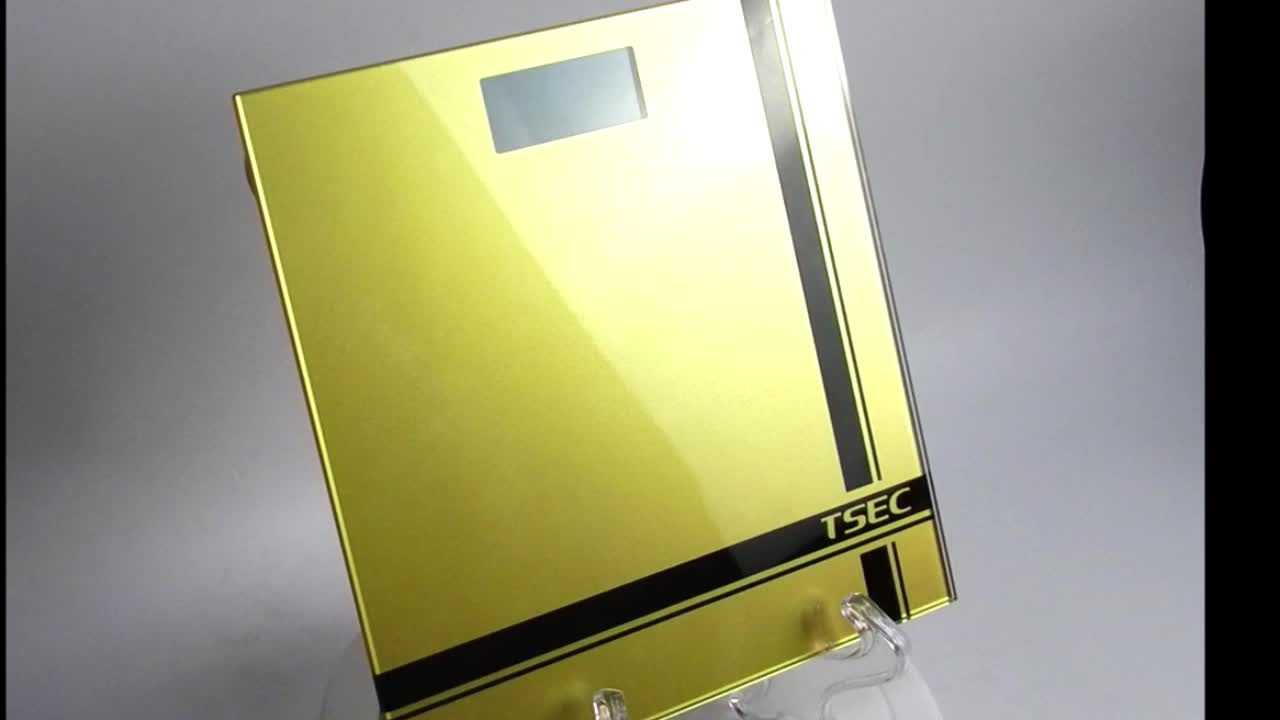 2020 High strength tempered glass body electronic bathroom weighing scale with good quality