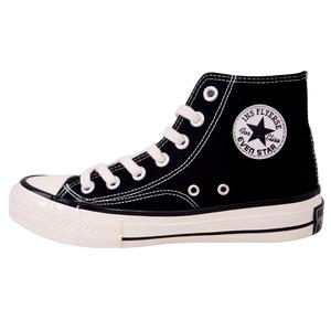 1970s高帮帆布鞋女韩版原宿男鞋