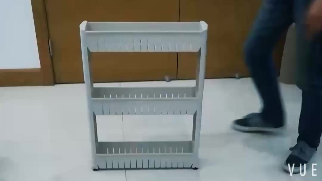 Good quality plastic kitchen rack corner plastic shelf