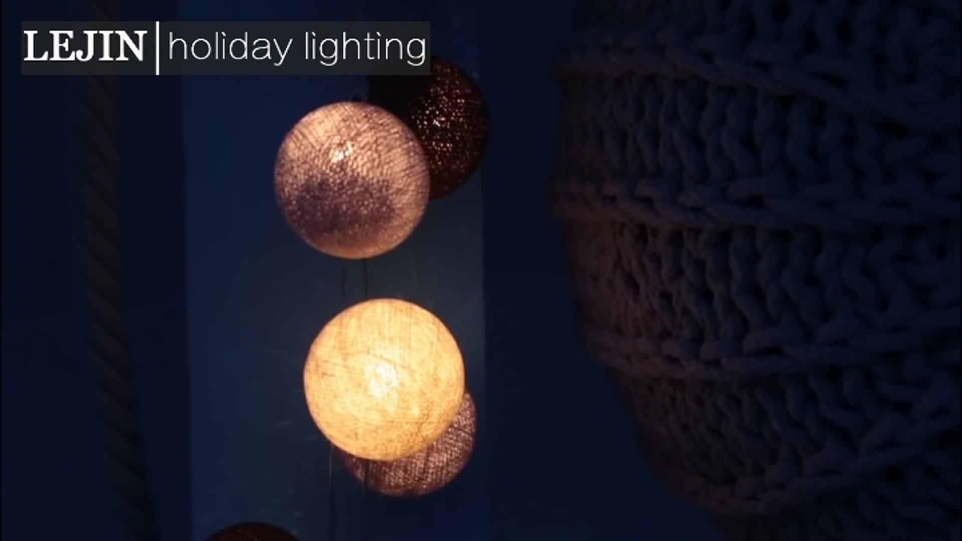 LED Stringa di Cotone Luce Mini Sfera Per Il Natale Indoor luci della stringa