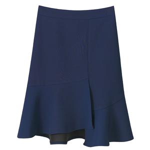 2021新韩版bf半身裙春夏中长款 a字大码高腰鱼尾裙不规则包臀短裙