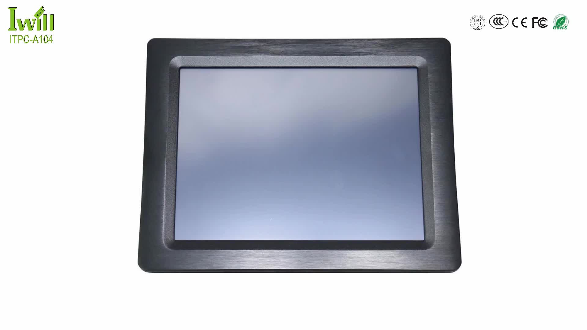 "Iwill ITPC-A104 10.4"" industrial touch screen panel pc linux with Intel baytrail J1900 quad core cpu"