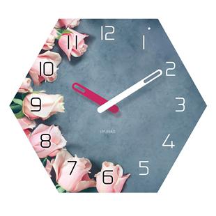 客厅家用简约静音卧室美容院时钟表