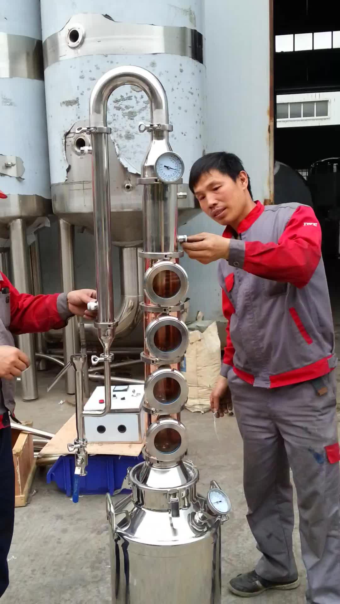 शराब इथेनॉल व्हिस्की संयंत्र बिक्री के लिए तांबा जिन अभी भी शराब खींचनेवाला
