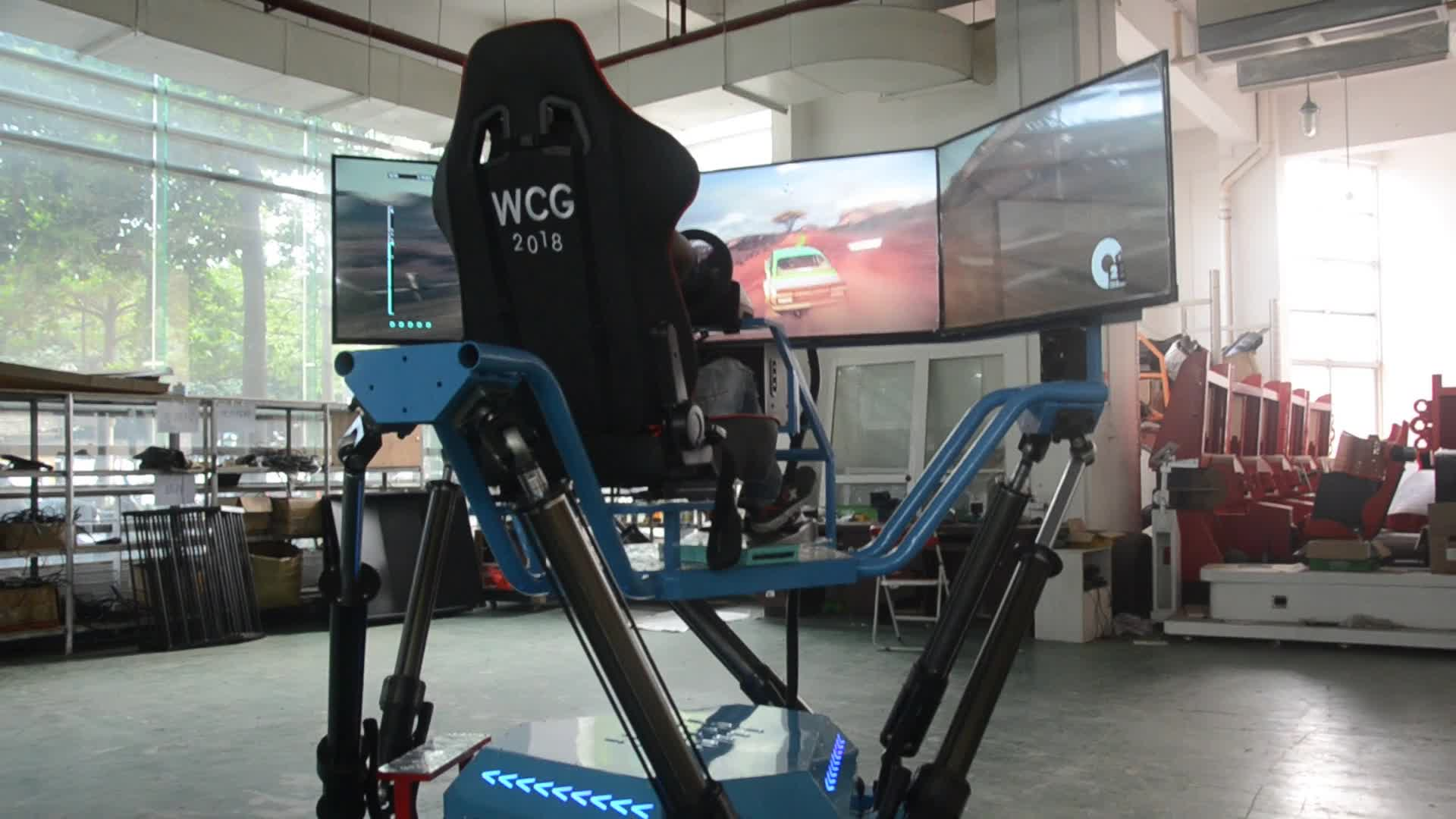 simulator Six-axis-Dynamic-Car arcade vr car racing video game machine car games car racing games