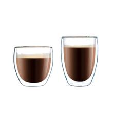 家用透明隔热玻璃杯咖啡杯花茶杯