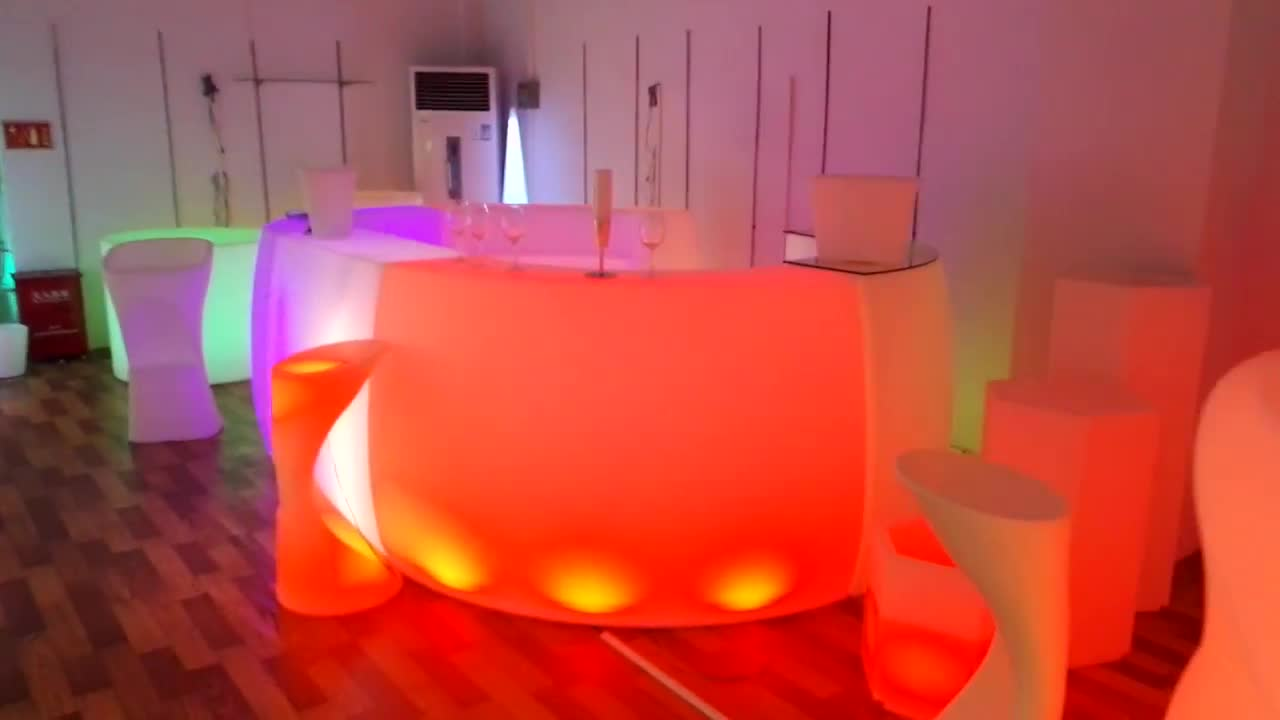 shop counter design lighted bar counter portable bar/bar counter led/commercial used led furniture