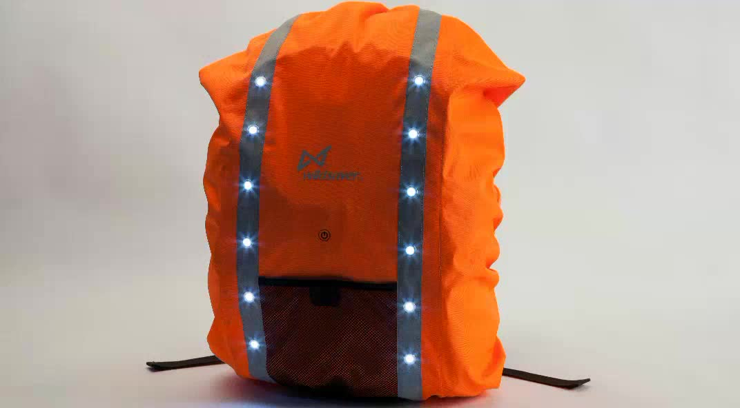 Hi Vis Waterproof Led Flashing Backpacks Protect Case Outdoor Hiking Camping