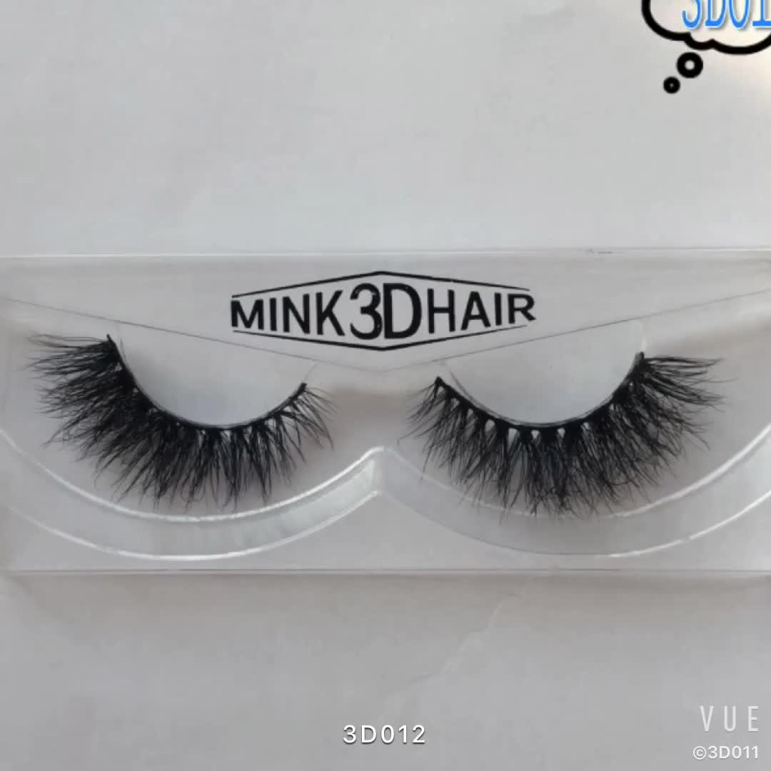 Handmade Reusable Thick Lashes 3D Mink Eyelashes Siberian Mink Fur False Eyelashes which can be used in party daily publich oc