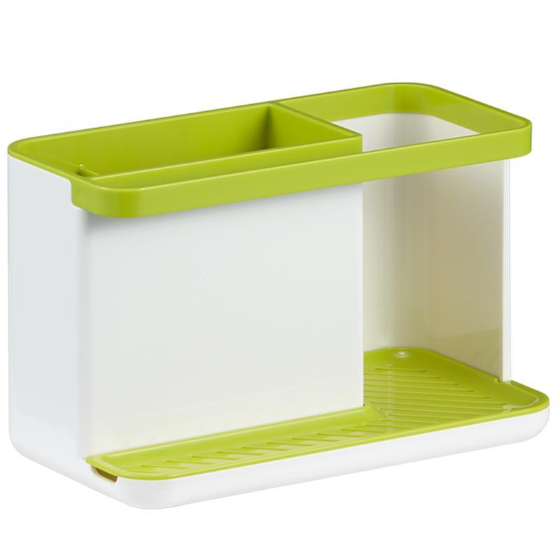EKO厨房置物架落地塑料洗洁精百洁布钢丝球杂物收纳架子自动沥水