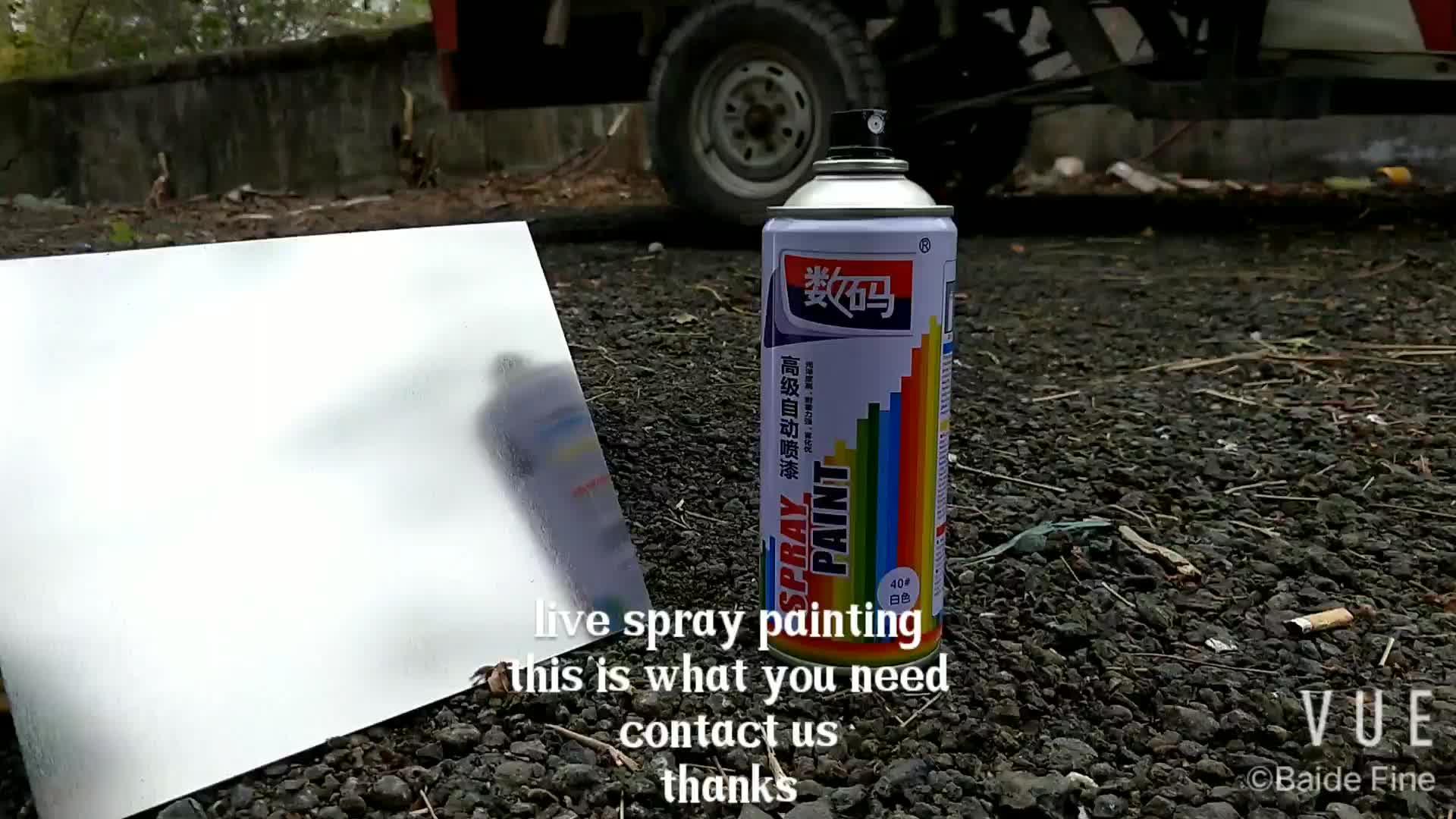빠른 건조 아크릴 멀티 색상 F1 에어로졸 스프레이 페인트