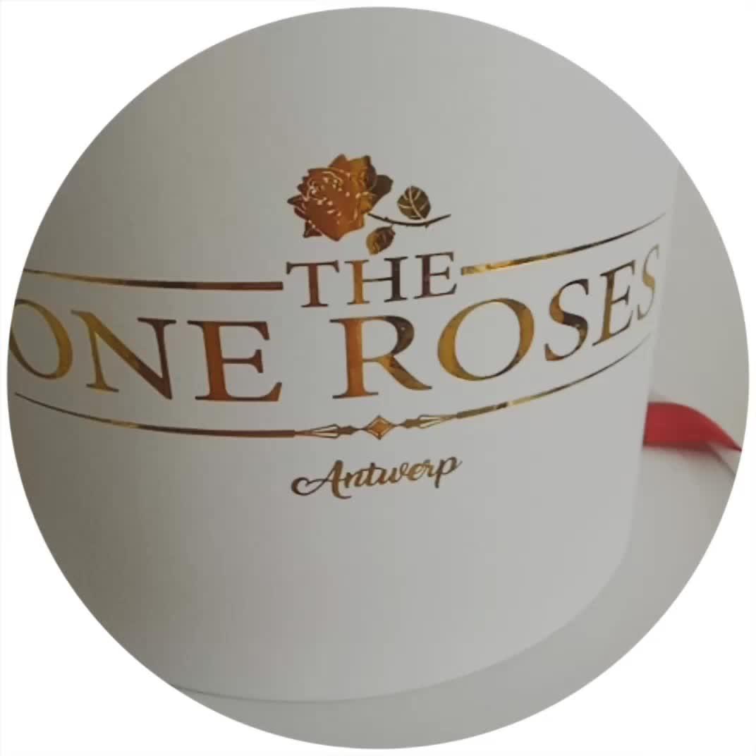 कागज के फूल बॉक्स दौर गत्ता फूल बॉक्स के लिए गुलाब का फूल पैकेजिंग