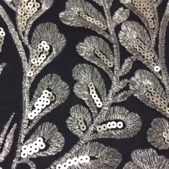 High-End Foil Sequin 3D Applique China Embroidery