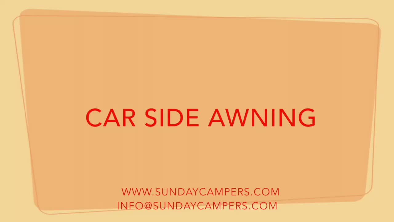 Car Camping 4x4 Portable Sun Shade Car Roof Side Awning ...