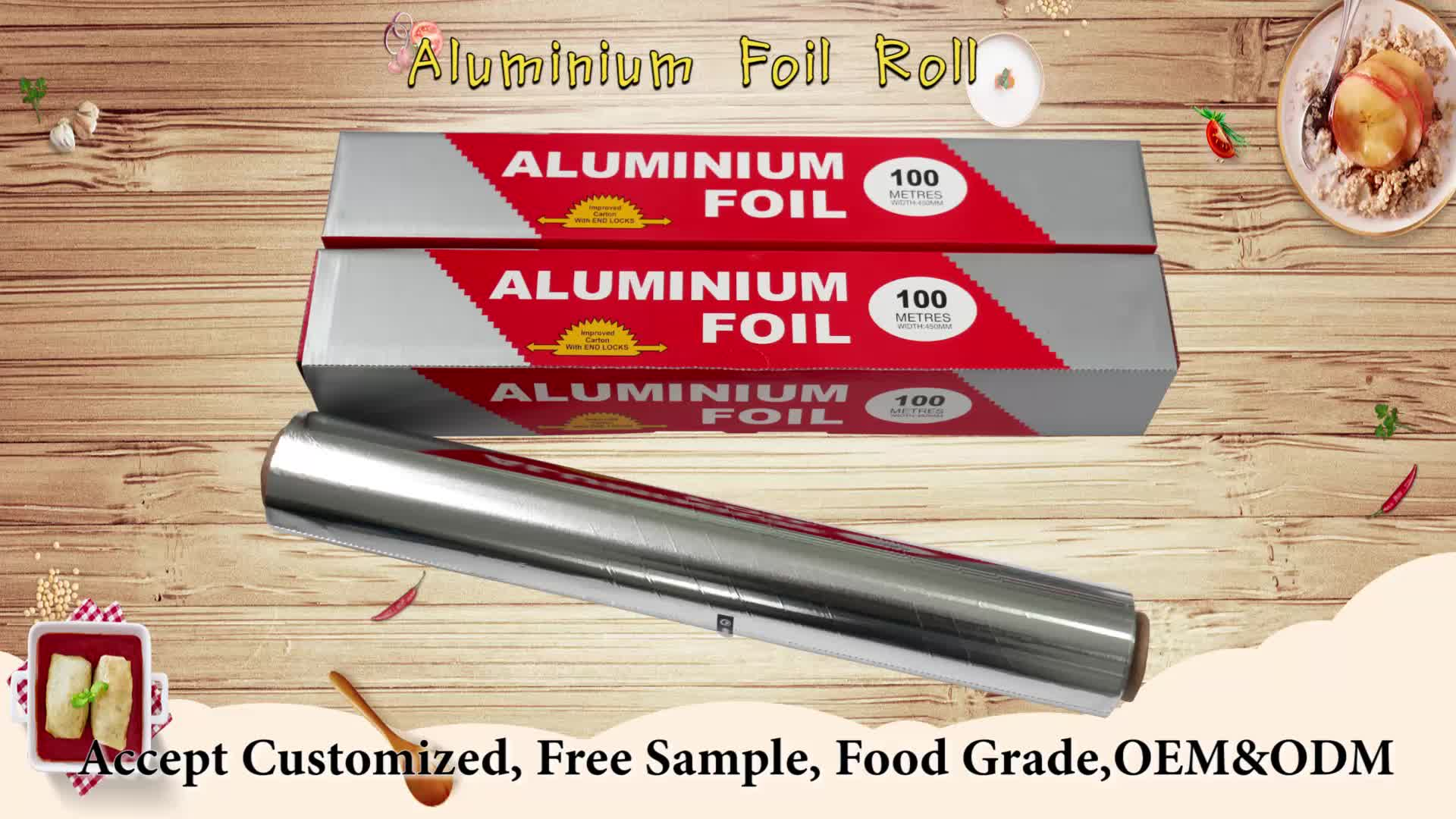 एल्यूमीनियम folie पैकिंग पेपर रोल के लिए फास्ट फूड (एसजीएस, एफडीए, Tuv प्रमाणपत्र)