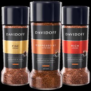 Davidoff大卫杜夫进口意式提神无糖添加美式黑咖啡速溶冻干罐装