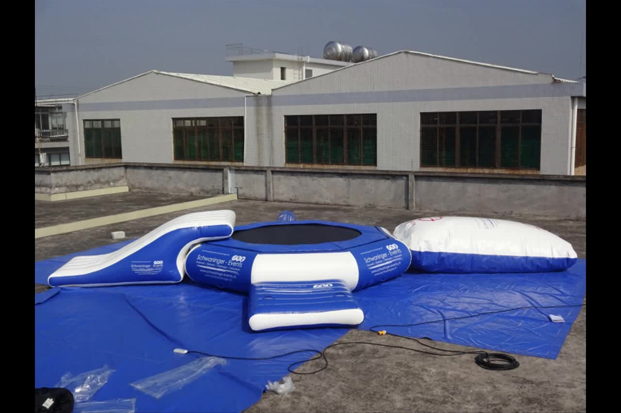 New design cheap commercial inflatable floating water park slides water inflatable water trampoline