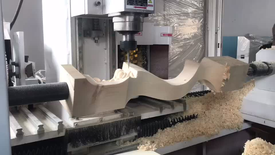 Cnc Milling Carving Lathe Machine For Curved Wood Table