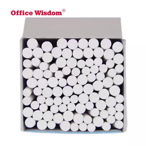 Factory Direct Selling Clean School Dustless White Color Chalk for Office stationery school supplies