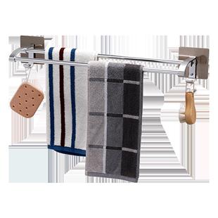 卫生间吸盘厕所浴巾架毛巾毛巾挂架
