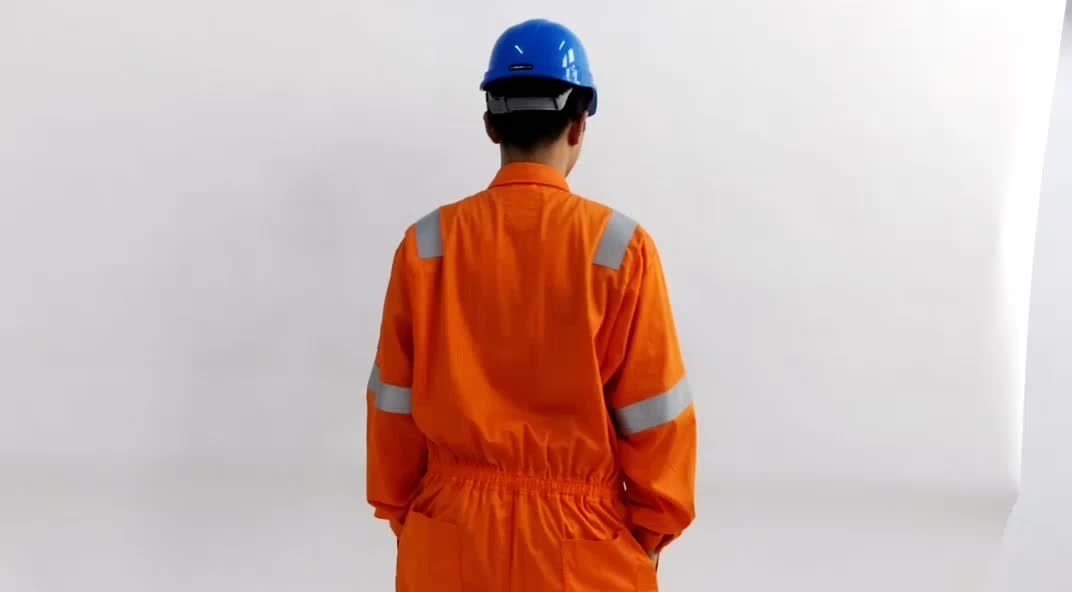 Xinke oil field industrial welding 100% cotton safety working flame retardant coverall