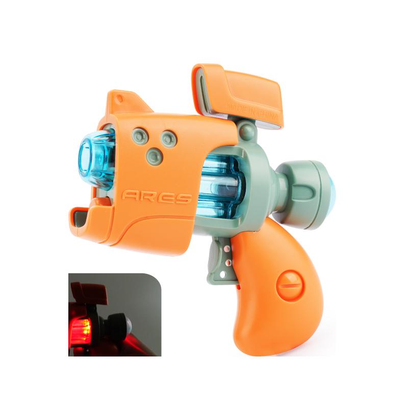 儿童玩具电动音乐声光枪男孩女耐摔大号仿真手枪发光投影3岁4礼物
