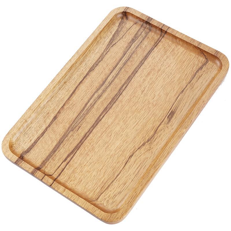 商用长方形木质餐盘北欧实木托盘质量靠谱吗
