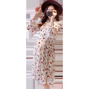 欢馨孕妇春秋季宽松中长款打底衫