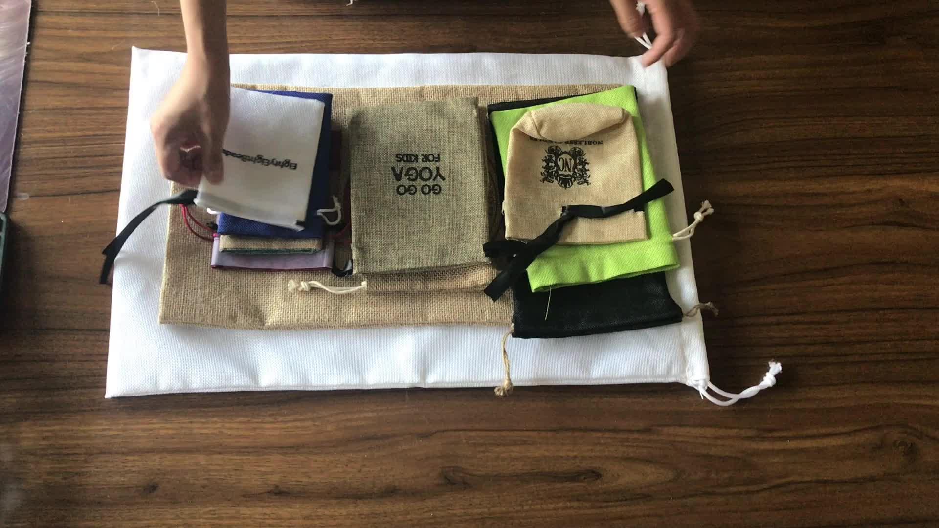 कस्टम कोको बीन्स पौधों के लिए जूट बैग चटाई बोरी बीज