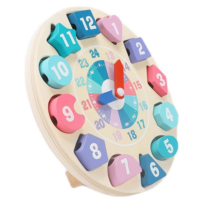 幼儿童时钟认知拼图穿珠子串珠拼板好用吗