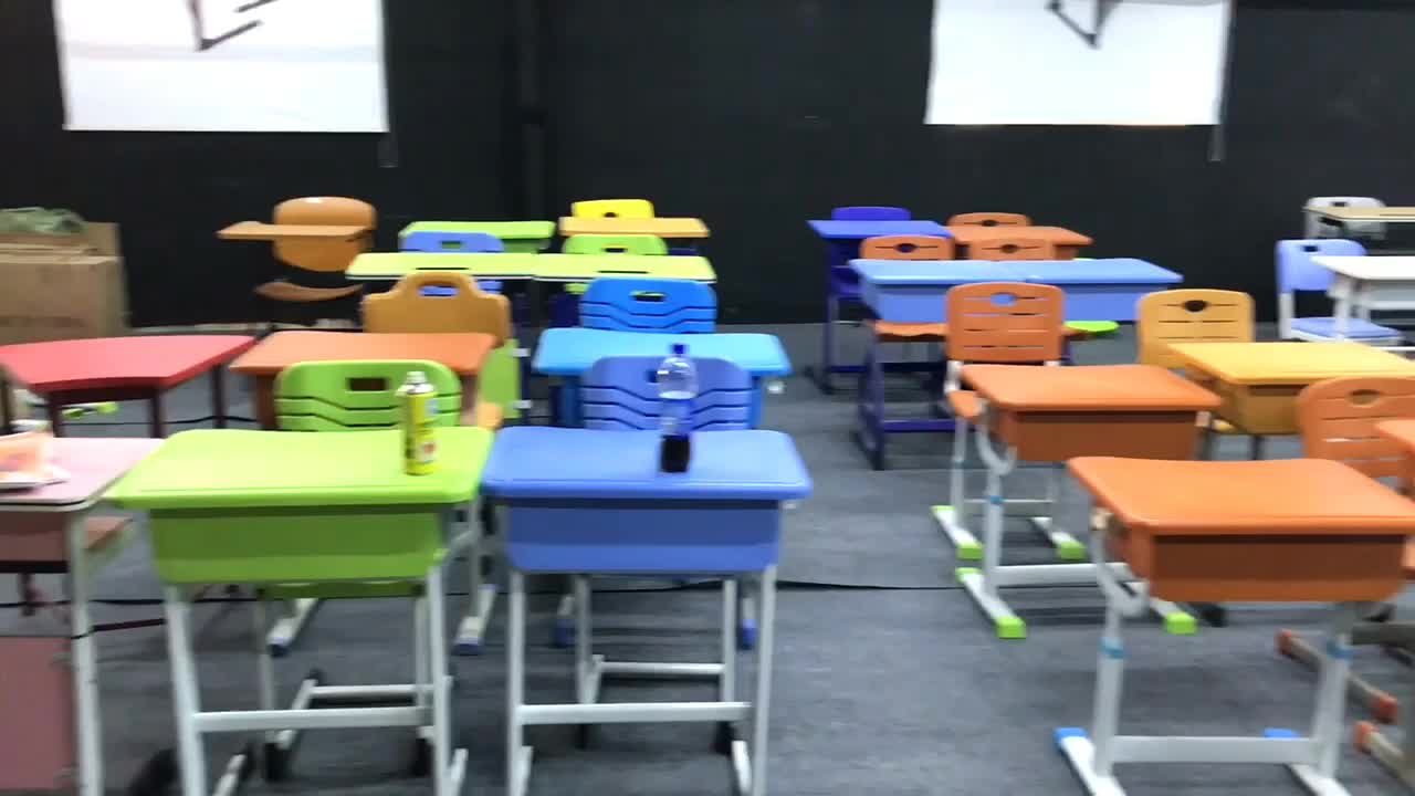 Design for primary school student study desk and chair set