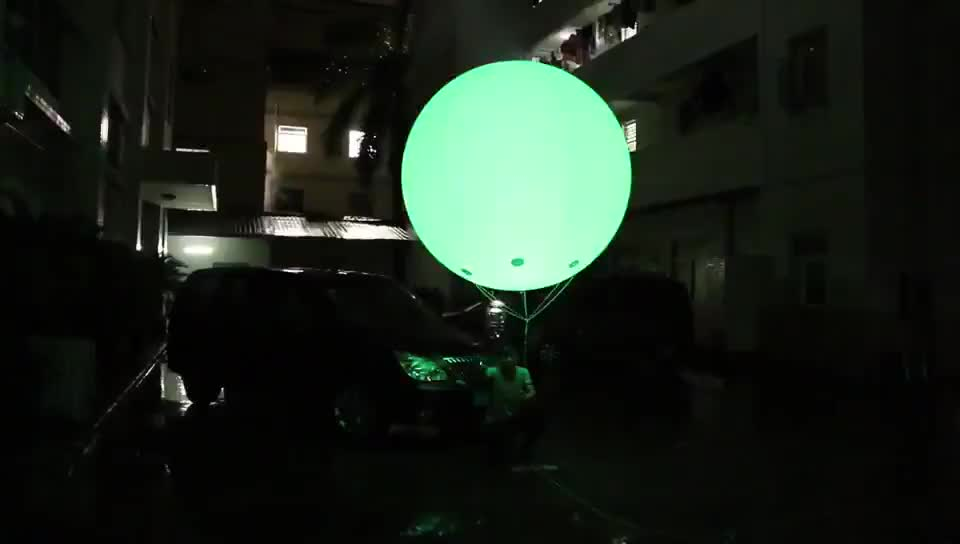 Color Changing giant Helium Balloon, Lighting inflatable balloon for advertising