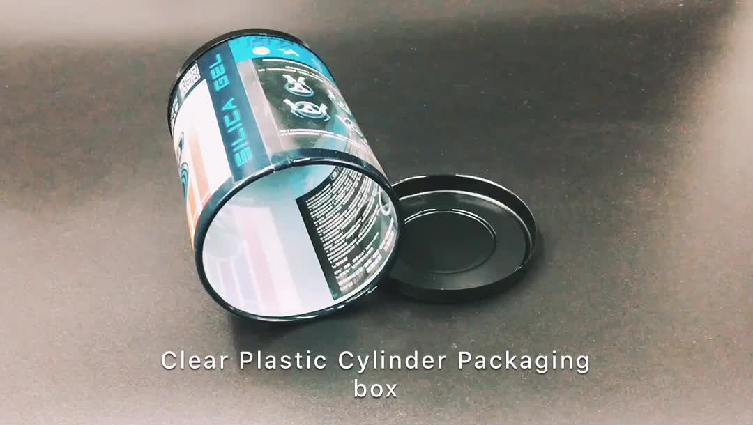 Custom Transparent Round PVC Clear Packaging Plastic Cylinder Box with lids