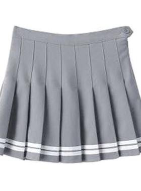 2021春夏西装面料百褶裙夏学生裙子