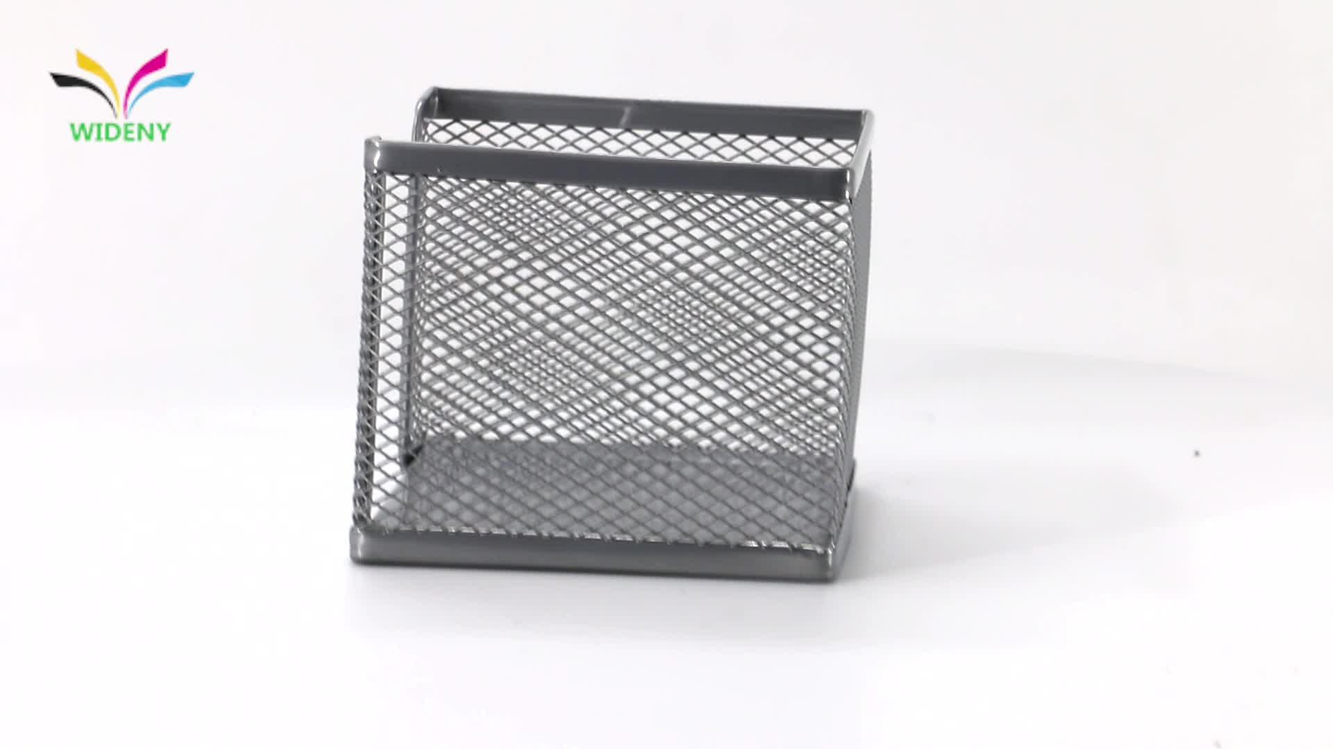 Wideny Kantoor school briefpapier desktop bureau metalen ijzer staaldraad mesh gepoedercoat opmerking memo houder