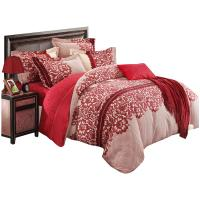 月诺新婚床上用品全棉加厚大红床笠怎么样