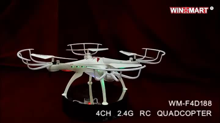 wholesale WM-F4D188C 2.4G 3D rolling RC camera quadcopter drone with 2MP HD camera