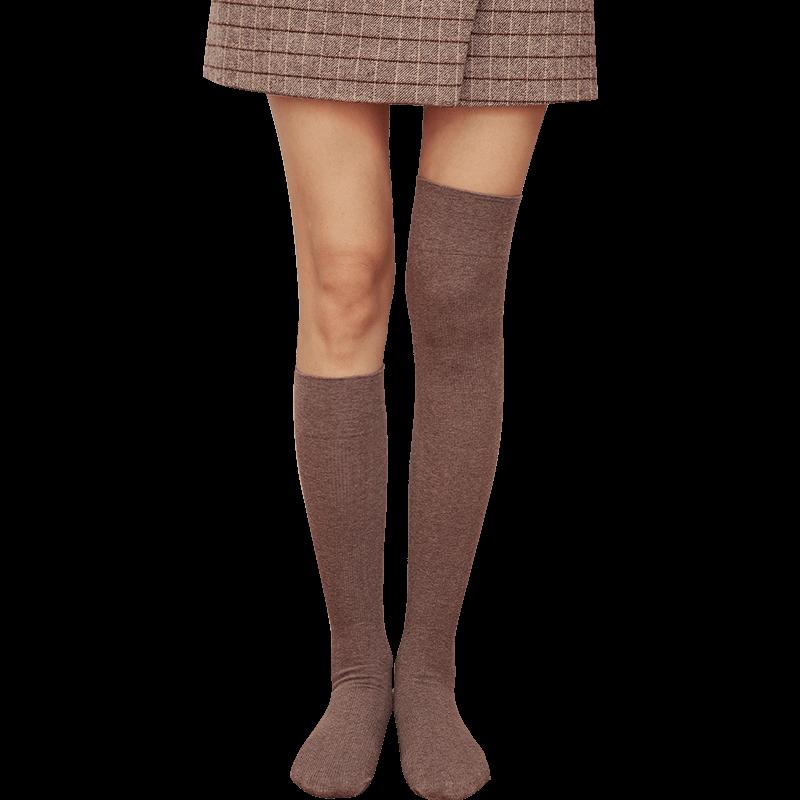 宝娜斯长筒袜子女日系街头小腿袜jk过膝袜潮ins秋冬中筒高筒及膝